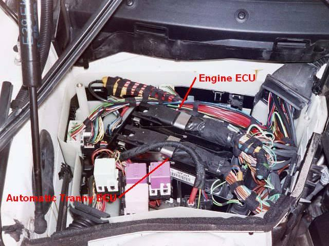 bmw 1997 540ia ecu removal